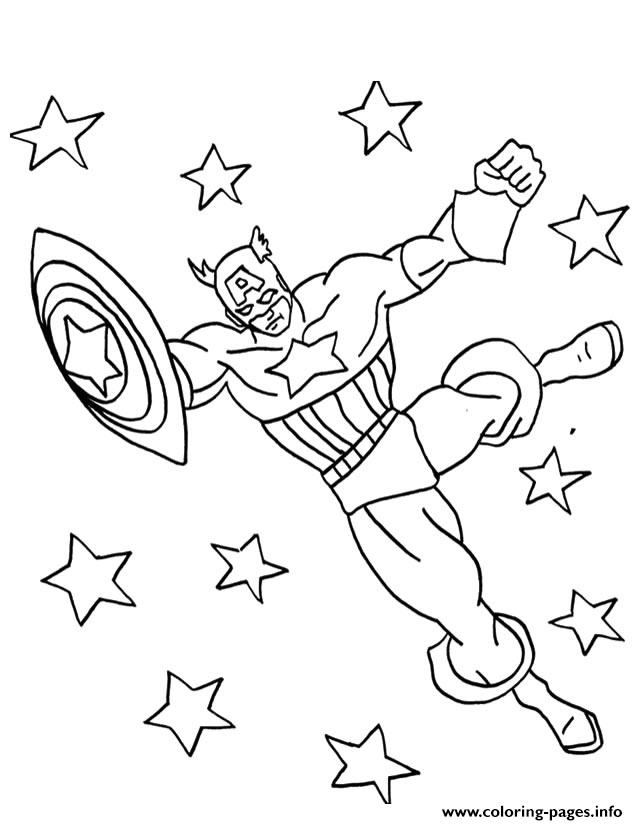 Superhero Captain America 29 coloring pages