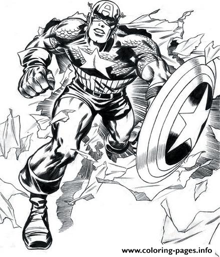 Superhero Captain America 297 coloring pages