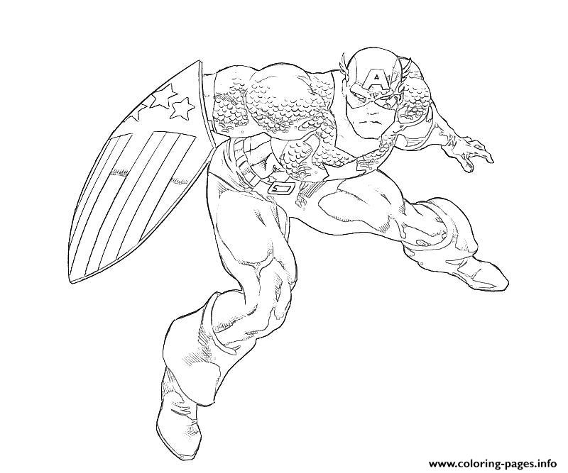 Superhero Captain America 328 coloring pages