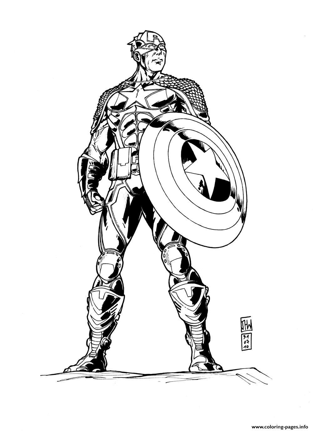 Coloriage Masque Captain America.Superhero Captain America 48 Coloring Pages Printable