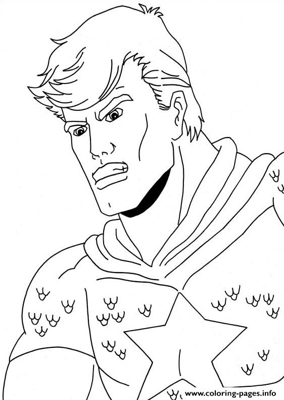Captain America 07 coloring pages