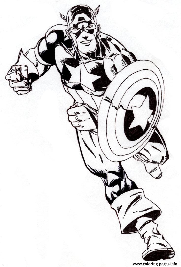 Superhero Captain America 331 coloring pages