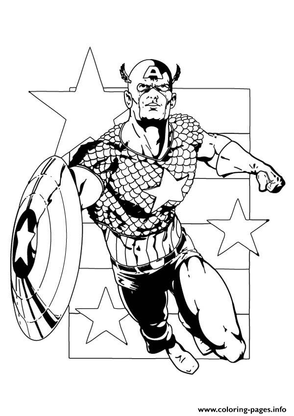 Superhero Captain America 334 coloring pages