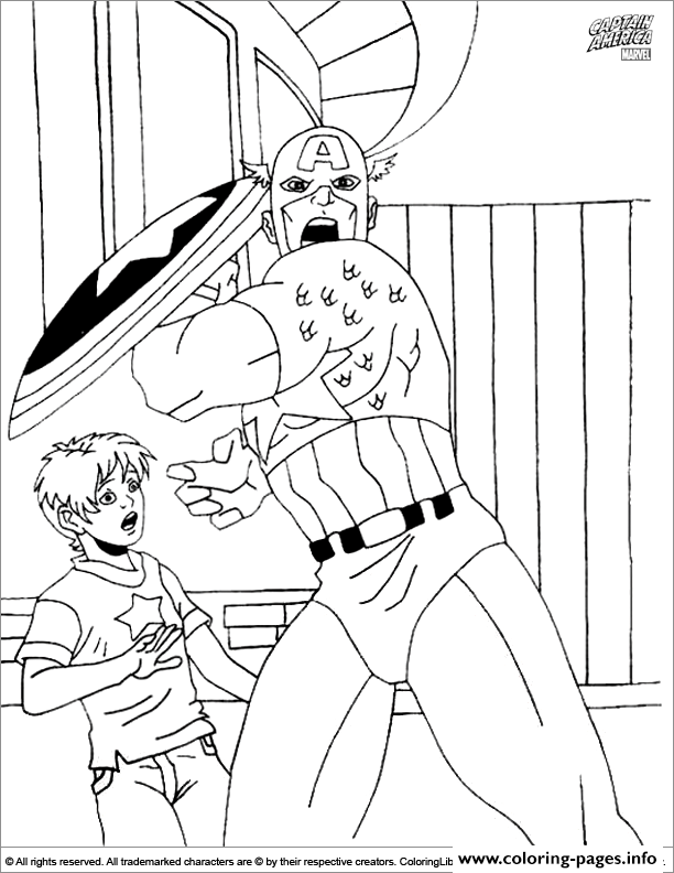 Superhero Captain America 236 coloring pages