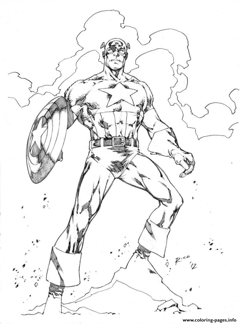 Superhero Captain America 246 coloring pages