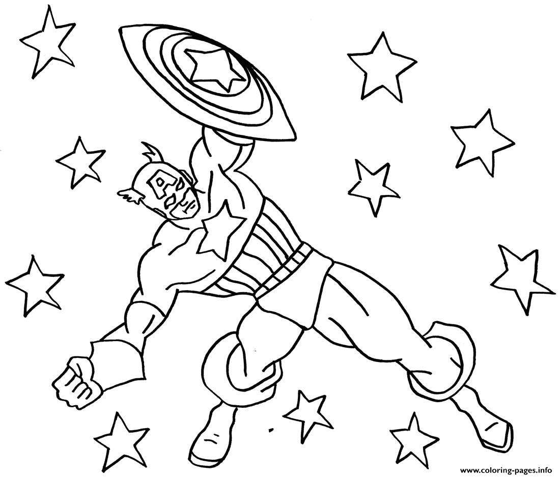 Superhero Captain America 343 Coloring Pages
