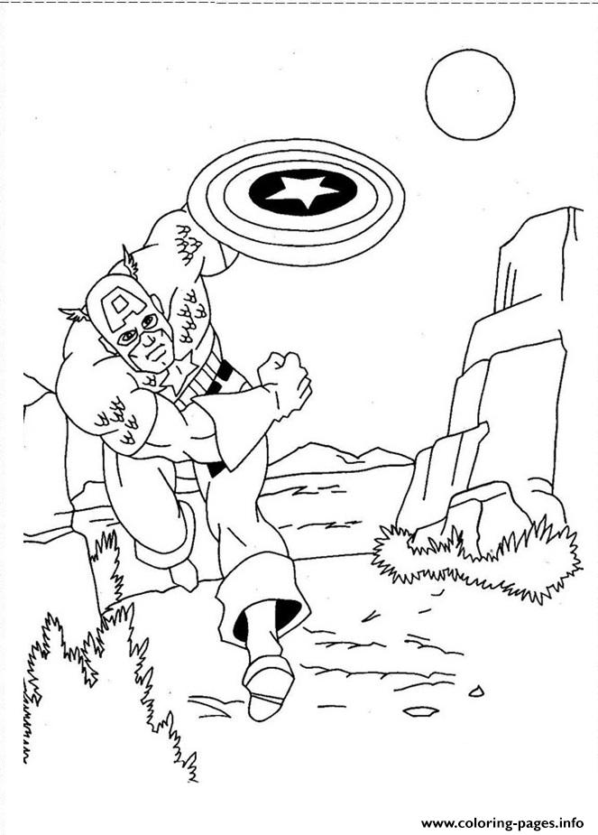 Superhero Captain America 348 coloring pages