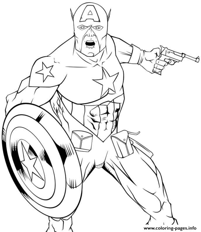 Superhero Captain America 66 coloring pages