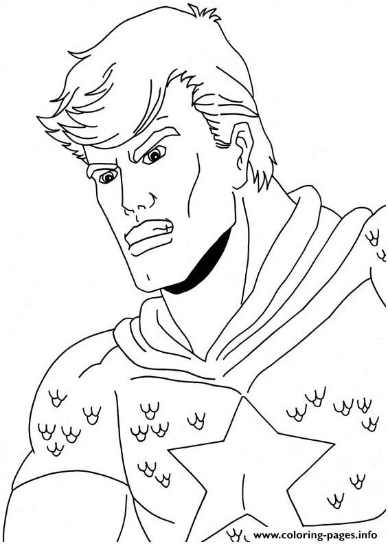 Superhero Captain America 121 coloring pages