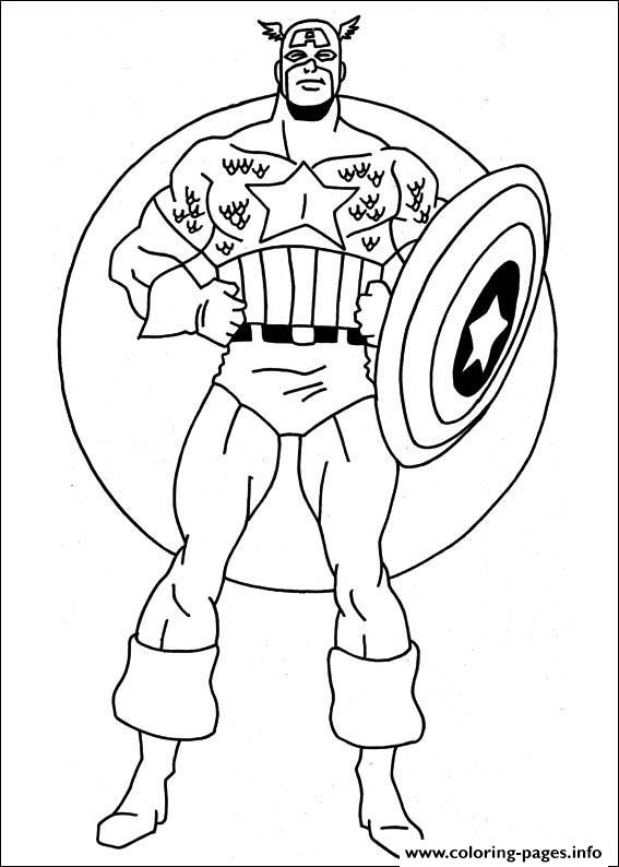 Captain America Coloring Page Free Printable Captain America ... | 794x567