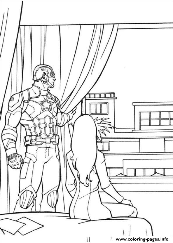 Captain America Civil War 01 Coloring Pages Printable