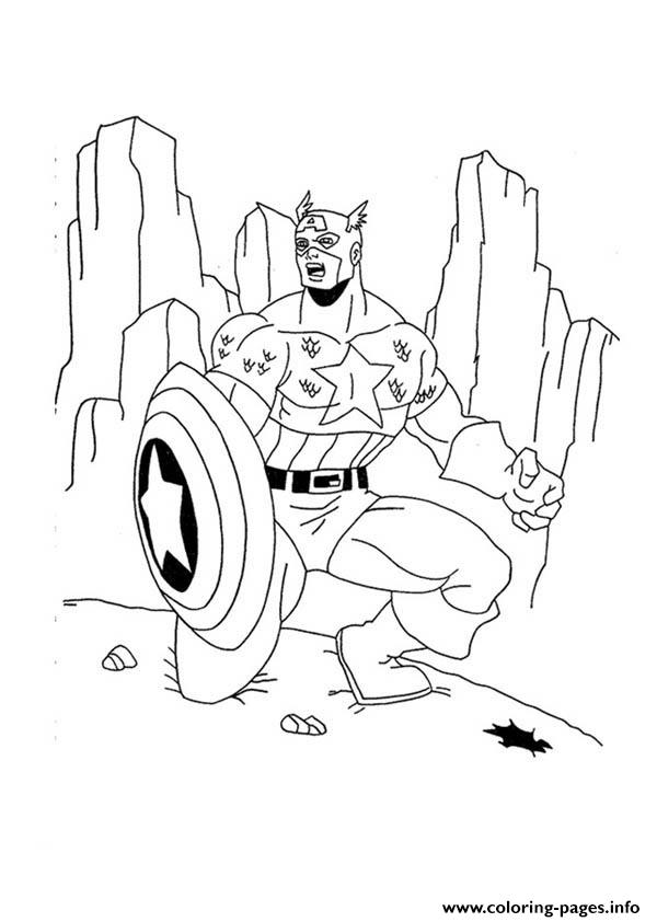 Superhero Captain America 293 coloring pages