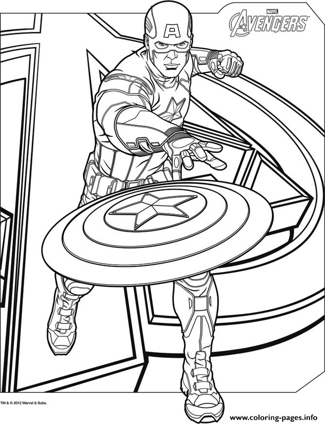 Superhero Captain America 8 coloring pages