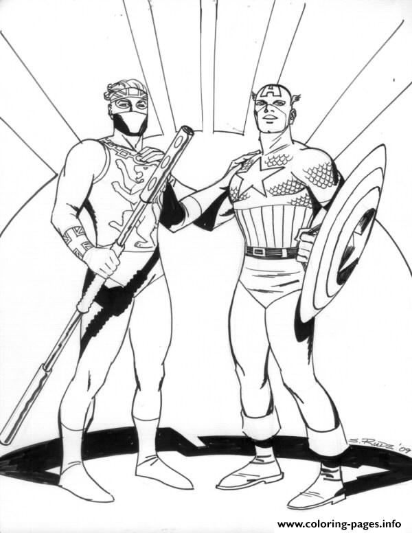 Superhero Captain America 71 coloring pages