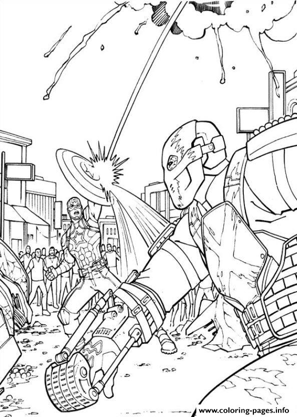 Captain America Civil War 10 Coloring Pages Printable