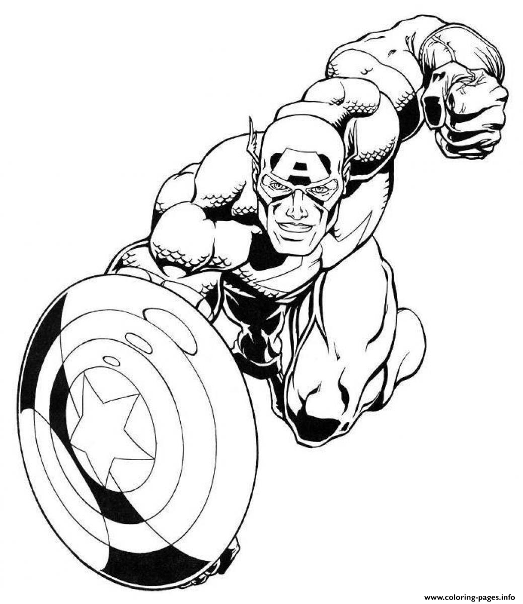 Superhero Captain America 21 coloring pages