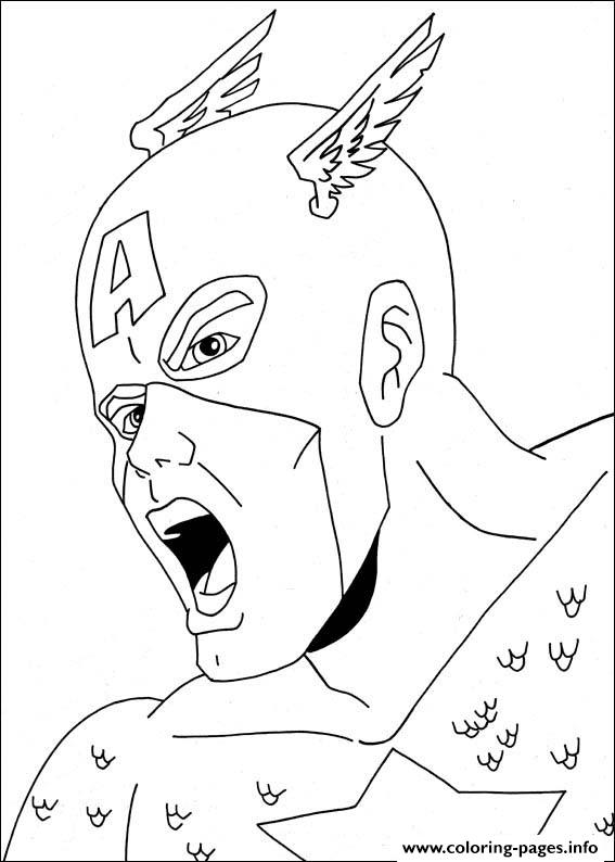 Superhero Captain America 19 coloring pages