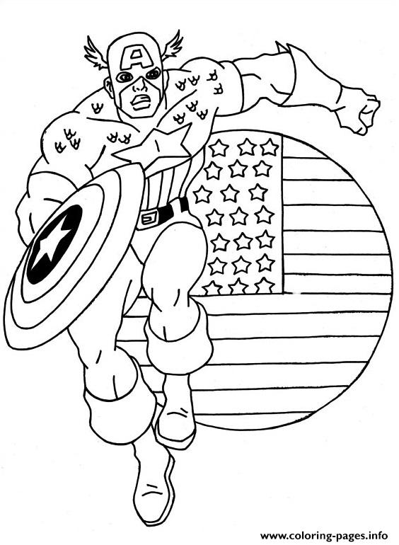Captain America 02 coloring pages
