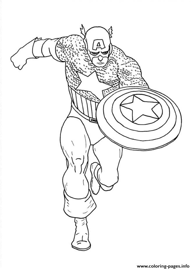 Superhero Captain America 46 coloring pages