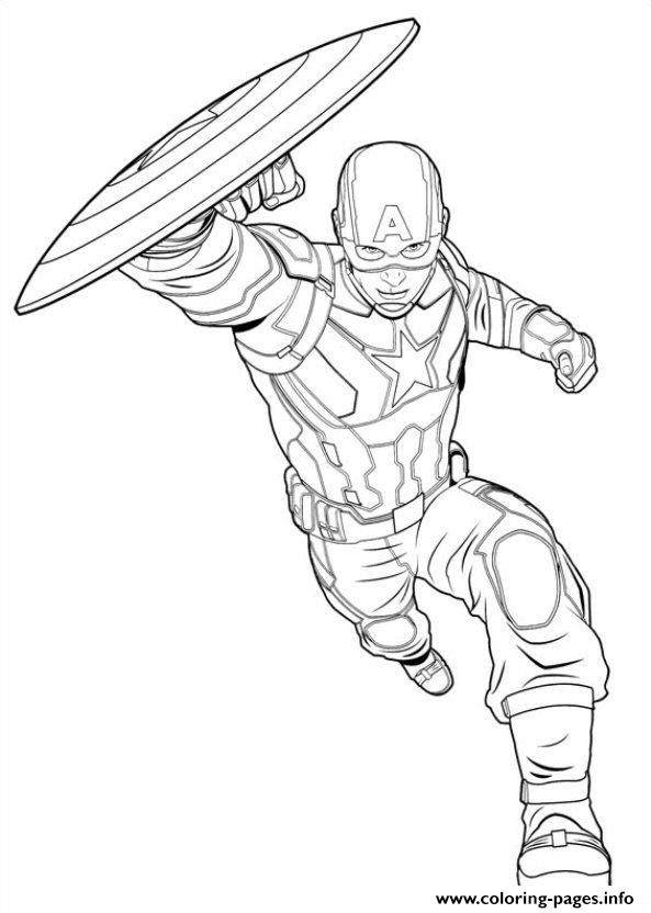 Captain America Civil War 11 Coloring Pages Print Download