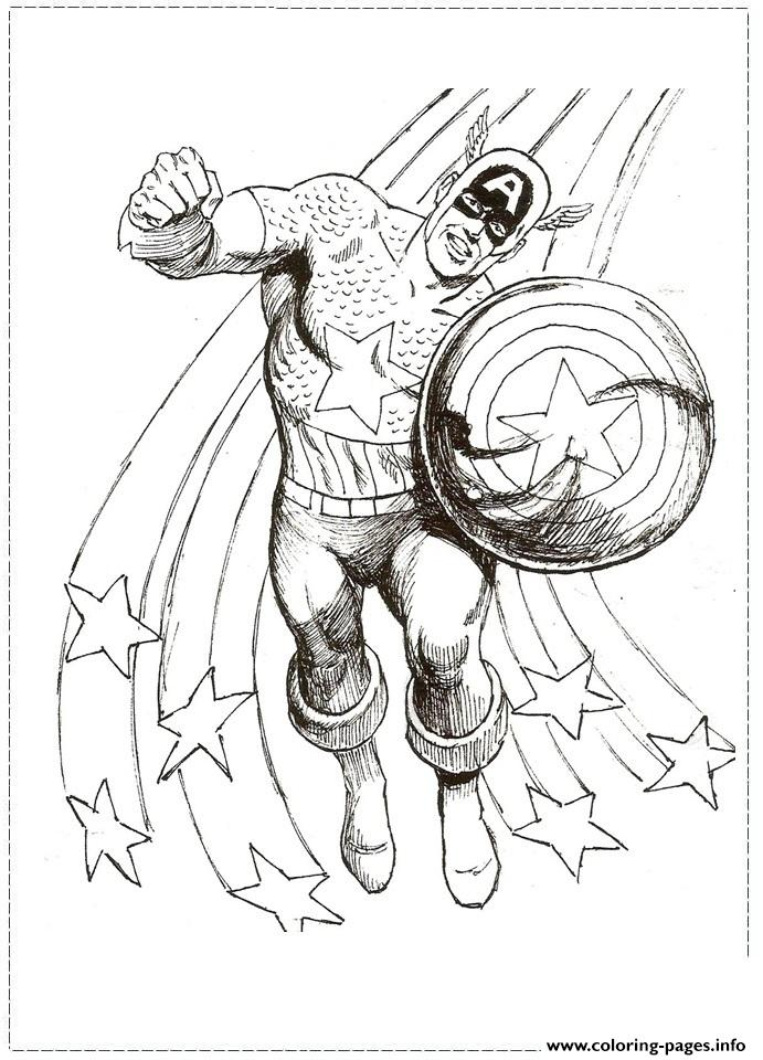 Superhero Captain America 317 coloring pages