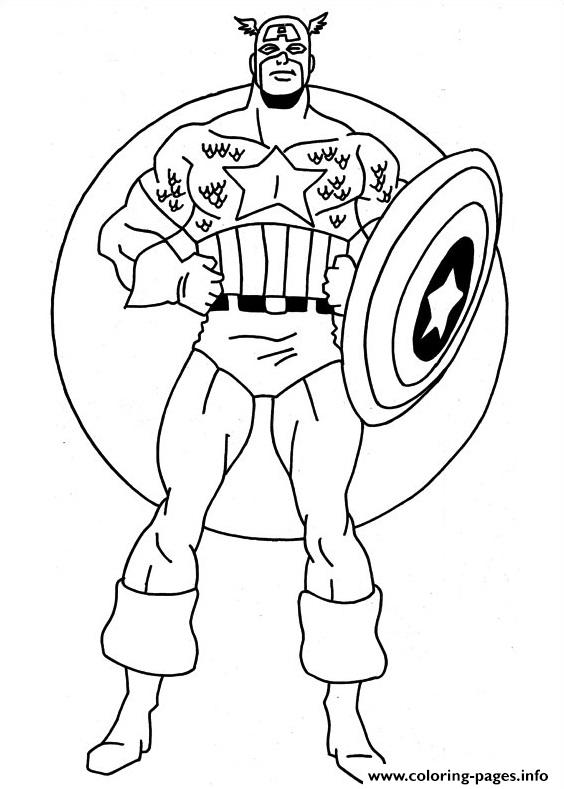 Captain America 22 coloring pages