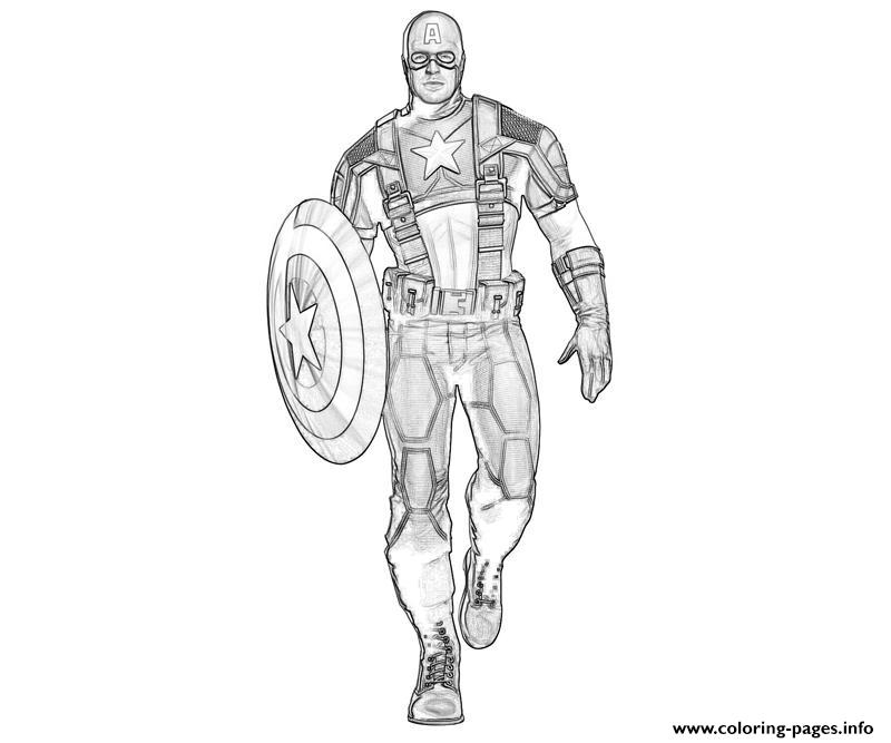 Superhero Captain America 307 coloring pages