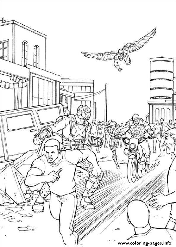 Captain America Civil War 09 Coloring Pages Printable