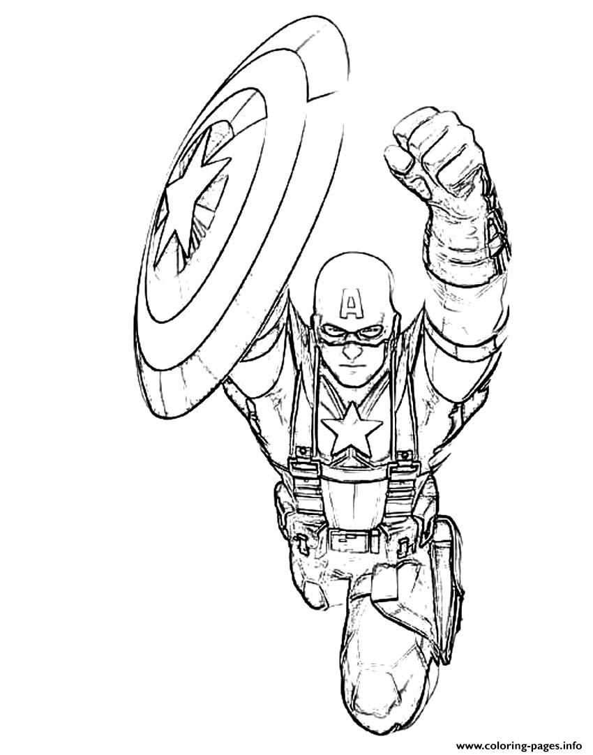 Superhero Captain America 123 coloring pages