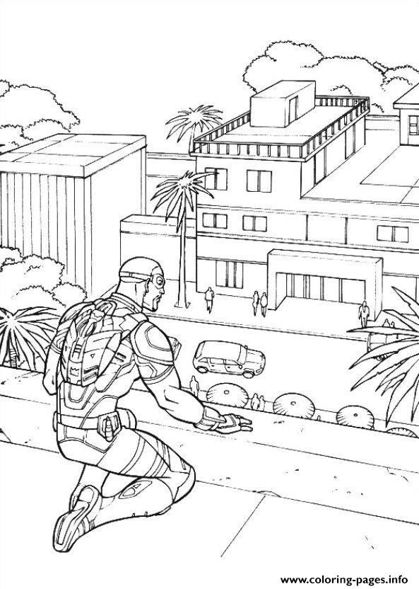 Captain America Civil War 02 Coloring Pages Printable