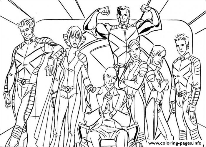 Printable S X Men Squads88e5 coloring pages