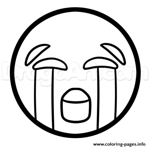 How To Draw The Crying Laughing Emoji Coloring Pages Printable