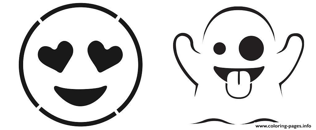 Emoji Pumpkin Carving Stencils coloring pages