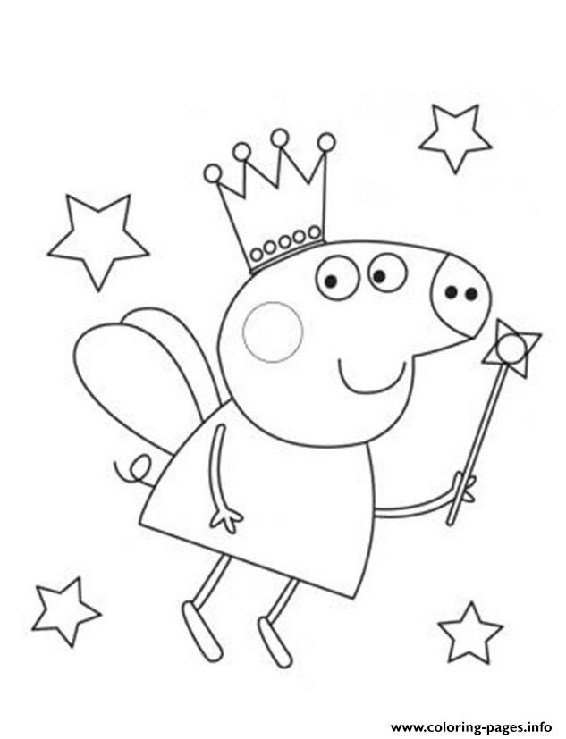 Fairy Peppa Pig Coloring Pages Printable