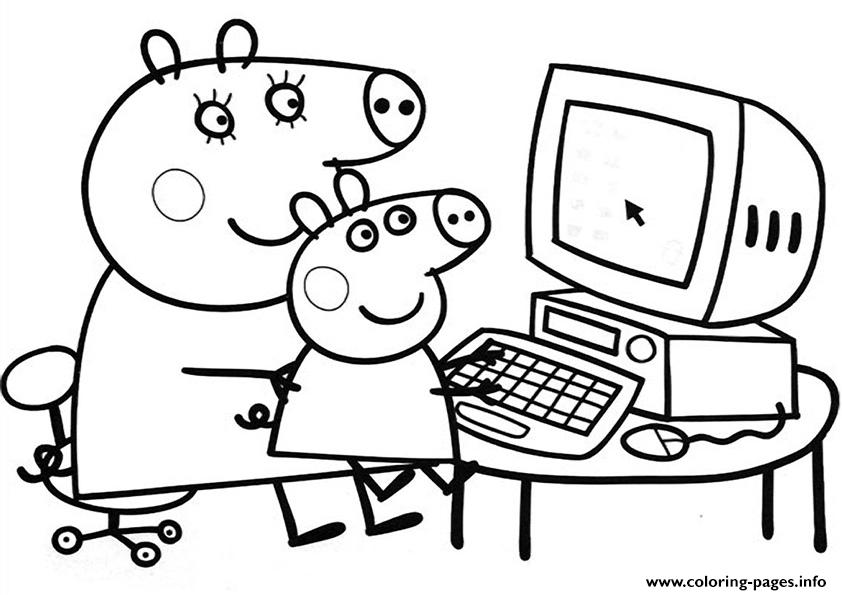 peppa pig free coloring pages - Free Coloring Pages To Print