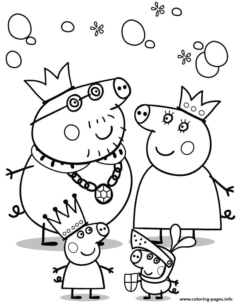 cartoon peppa pig coloring pages printable - Peppa Pig Coloring Pages Print