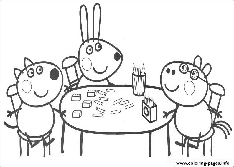 print kids peppa pig colouring pages kids coloring pages