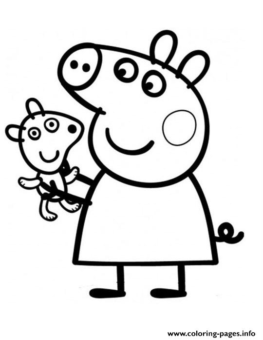 pretty peppa pig coloring pages printable - Peppa Pig Coloring Pages Print