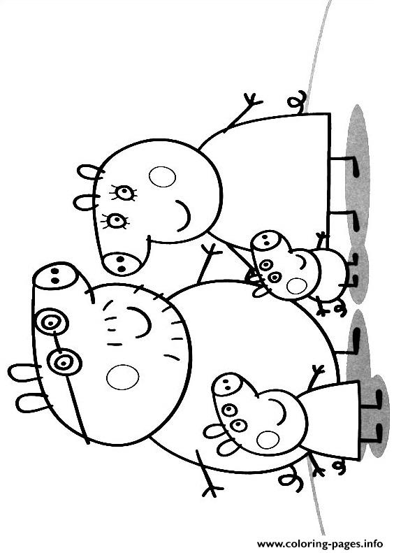 Peppa Pig Family Coloring Pages Printable Family Coloring Pages