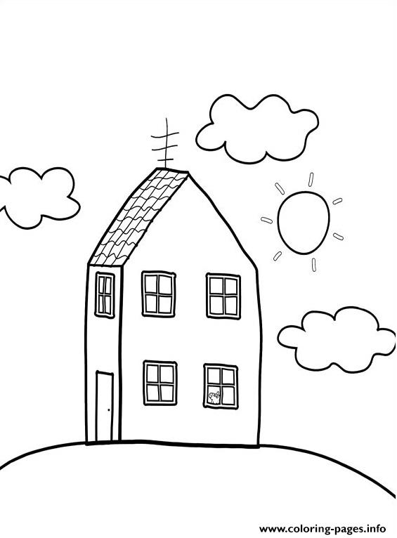 Peppa Pig House Coloring Pages