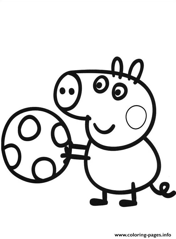 Peppa Pig Play Soccer coloring pages