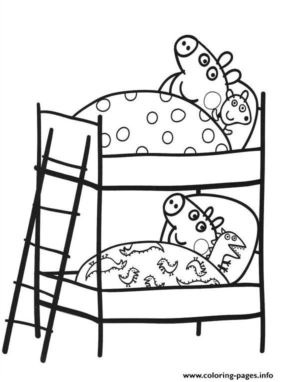 Peppa Pig Time To Sleep Coloring Pages Printable