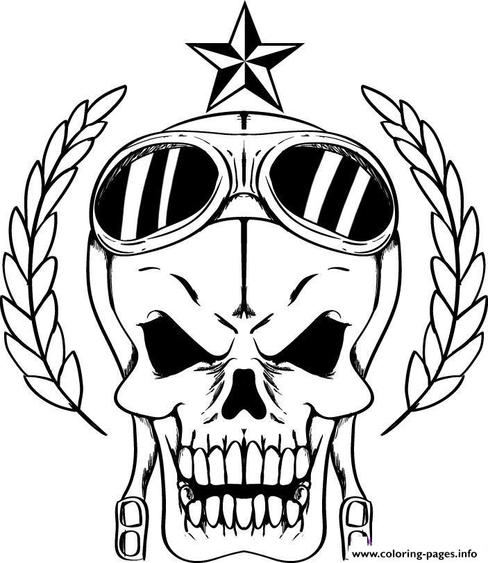 Bad Skulls coloring pages