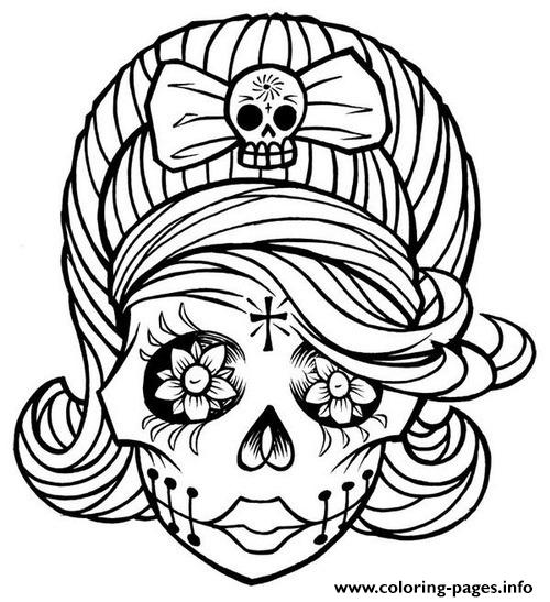 sugar candy skulls coloring pages - photo#31