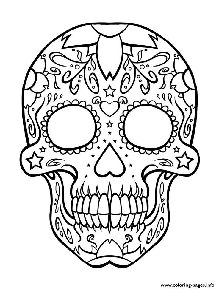 Sugar Skull Coloring Pages Coloring Pages Printable
