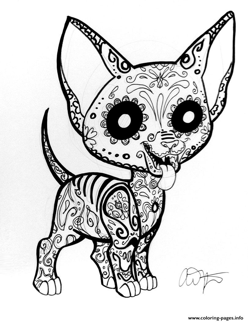 Sugar Skull Girl coloring page  Free Printable Coloring Pages