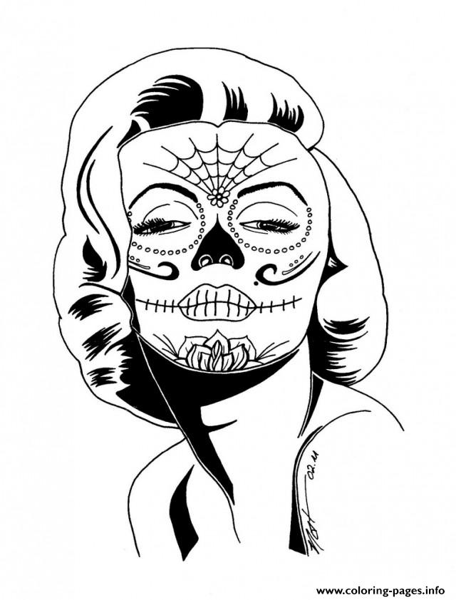 sexy sugarskull coloring pages - Sugar Candy Skulls Coloring Pages