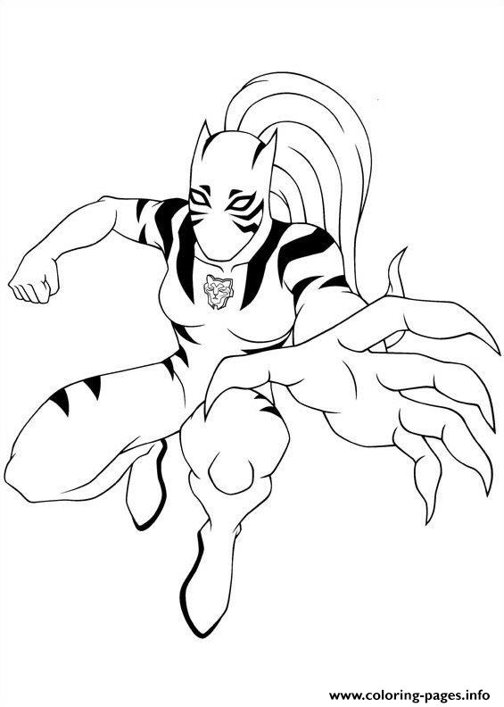 Ultimate Spiderman White Tiger 2 Coloring Pages Printable