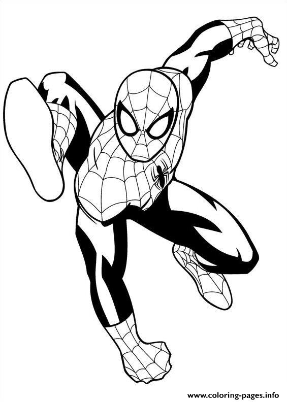 Ultimate Spiderman 4 Coloring Pages Printable Ultimate Spider Coloring Pages
