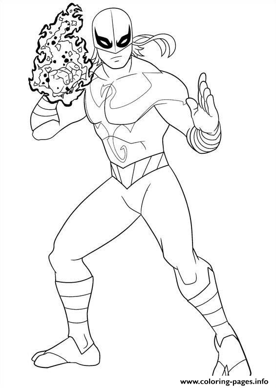Ultimate Spiderman Iron Fist Coloring Pages Printable